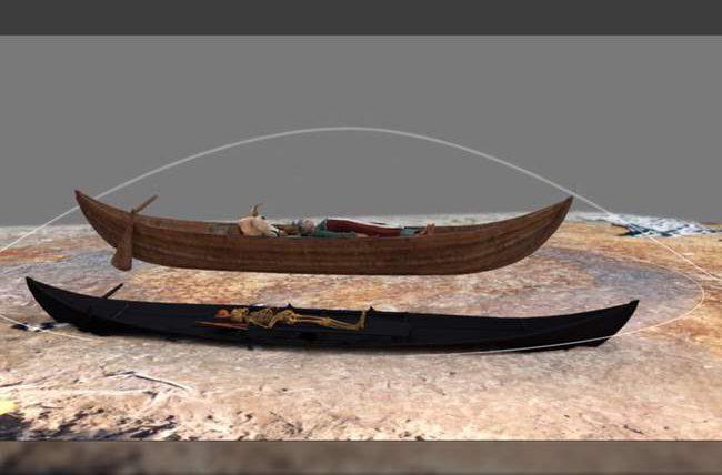 Одна могила и две лодки на двоих - так хоронили викингов Норвегии